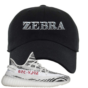 Yeezy Boost 350 V2 Zebra Zebra Black Sneaker Hook Up Dad Hat