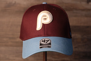 Phillies FlexFit | Philadelphia Phillies 2-Tone Retro Cooperstown FlexFit | OSFM the front of this cap has the phillies retro logo and colors