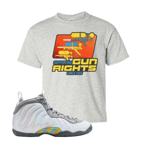 Lil Posite One Rainbow Pixel Kids T Shirt | Ash, Water Soaker