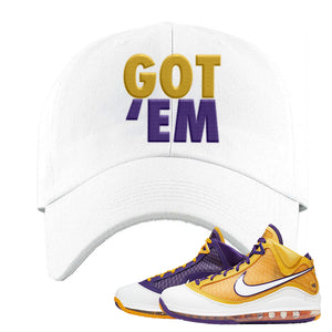 Lebron 7 'Media Day' Dad Hat | White, Got Em