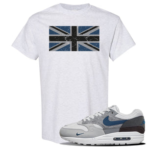 Air Max 1 'London City Pack' Sneaker Ash T Shirt | Tees to match Nike Air Max 1 'London City Pack' Shoes | Union Jack Flag