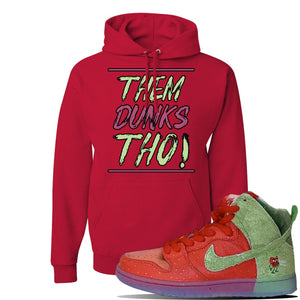 SB Dunk High 'Strawberry Cough' Hoodie | Red, Them Dunks Tho