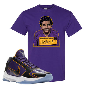 Kobe 5 Protro 5x Champ T Shirt | Escobar Illustration, Deep Purple