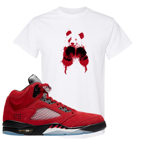 Air Jordan 5 Raging Bull T Shirt | Boxing Panda, White