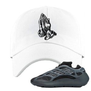 Yeezy 700 v3 Alvah Dad Hat | White, Praying Hands