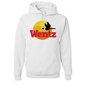 Wentz WaWa Pullover Hoodie | Wentz WaWa White Pull Over Hoodie the front of this hoodie has the went wawa logo