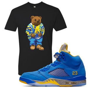 This black t-shirtwill match great with your Jordan 5 Alternate Laney JSP shoes