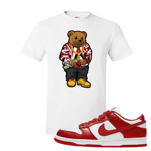 SB Dunk Low St. Johns T Shirt | Sweater Bear, White