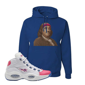 Question Mid Pink Toe Hoodie | Franklin Headband, Royal