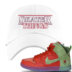SB Dunk High 'Strawberry Cough' Dad Hat | White, Skater Things