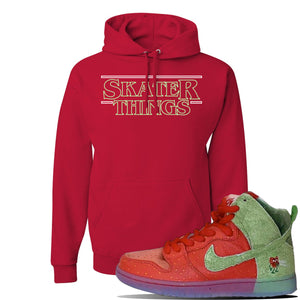 SB Dunk High 'Strawberry Cough' Hoodie | Red, Skater Things