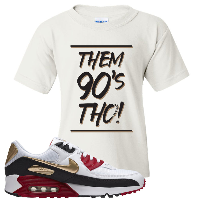 Air Max 90 Chinese New Year Kid's T Shirt | White, Them 90's Tho