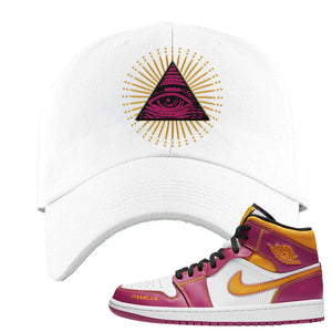 Air Jordan 1 Mid Familia Dad Hat | All Seeing Eye, White