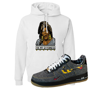 Air Force 1 Low Plaid And Camo Remix Pack Hoodie | Oh My Goodness, White