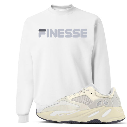 Yeezy Boost 700 Analog Sneaker Match Finesse White Crewneck Sweater
