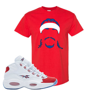 Question Mid OG Suede Toe T Shirt | Headband Corn Rows, Red