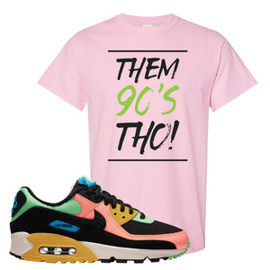 Furry Air Max 90 Bright Neon T Shirt | Them 90s Tho, Light Pink