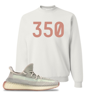 Yeezy Boost 350 V2 Citrin Non-Reflective 350 White Sneaker Matching Crewneck Sweatshirt