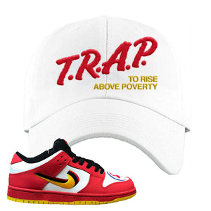 Nike Dunk Low Vietnam 25th Anniversary Dad Hat | Trap To Rise Above Poverty, White