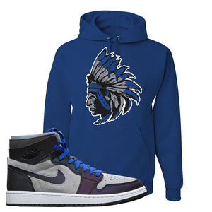 Air Jordan 1 High Zoom E-Sports Pullover Hoodie | Indian Chief, Royal Blue
