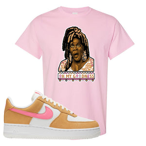 Nike Air Force 1 Pink Orange T-Shirt | Oh My Goodness, Light Pink