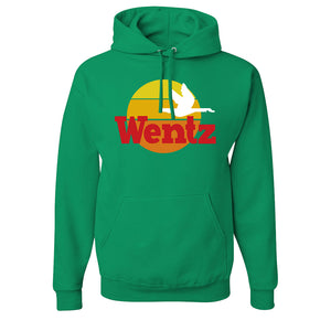 Wentz WaWa Pullover Hoodie | Wentz WaWa Kelly Green Pull Over Hoodie the front of this hoodie has the wentz wawa logo
