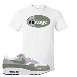Air Max 1 Spiral Sage T-Shirt | Vintage Oval, White