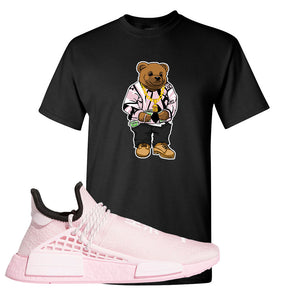 NMD Hu Tonal Pink T Shirt | Sweater Bear, Black