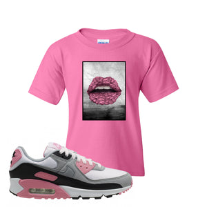 WMNS Air Max 90 Rose Pink Rose Lips Azalea Kid's T-Shirt To Match Sneakers