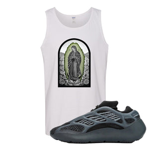 Yeezy 700 v3 Alvah Tank Top | White, Virgin Mary