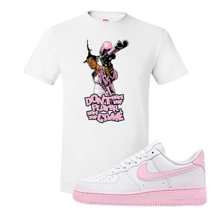 Air Force 1 Low White Pink Foam T Shirt | White, Don't Hate The Playa
