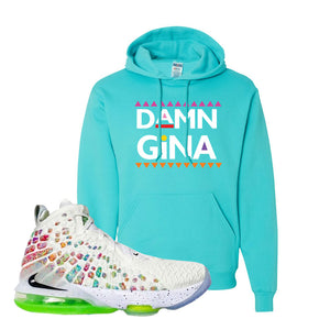 Lebron 17 Air Command Force Hoodie | Scuba Blue, Damn Gina