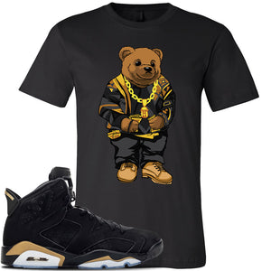 Jordan 6 DMP 2020 Sneaker Black T Shirt | Tees to match Nike Air Jordan 6 DMP 2020 Shoes | Sweater Bear