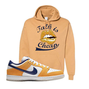 SB Dunk Low Laser Orange Hoodie | Old Gold, Talk is Cheap