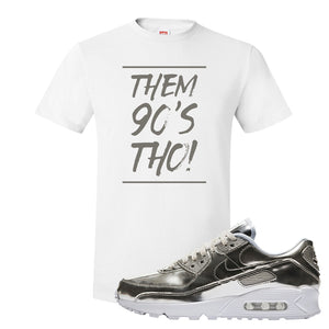 Air Max 90 WMNS 'Medal Pack' Chrome Sneaker White T Shirt | Tees to match Nike Air Max 90 WMNS 'Medal Pack' Chrome Shoes | Them 90's Tho