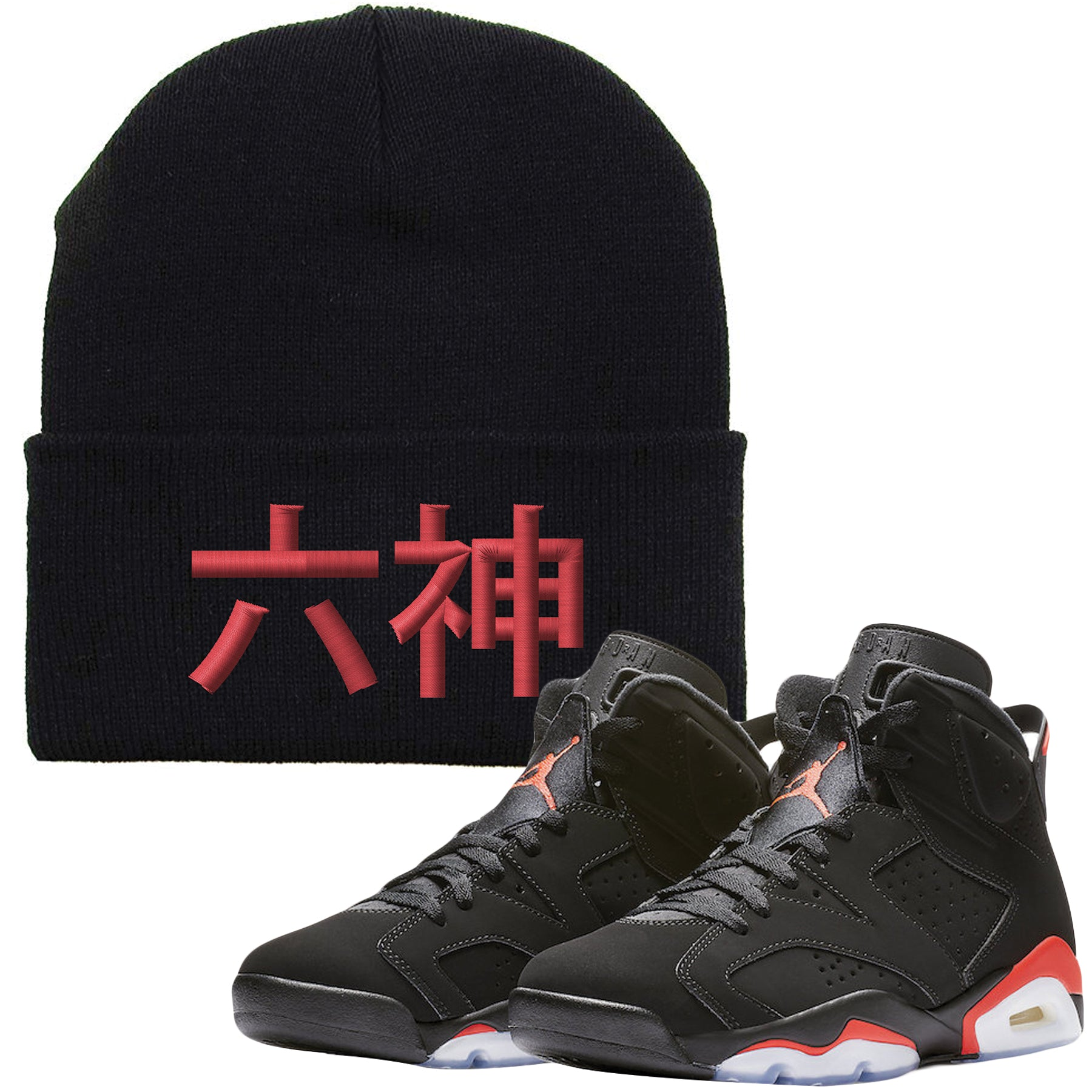 1d95fafba5ca52 The Jordan 6 Infrared Beanie is custom designed to perfectly match the  retro Jordan 6 Infrared