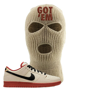 SB Dunk Low Muslin Ski Mask | Got Em, Khaki