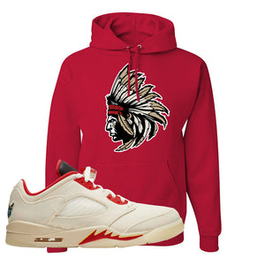 Air Jordan 5 Low Chinese New Year 2021 Hoodie | Indian Chief, Red