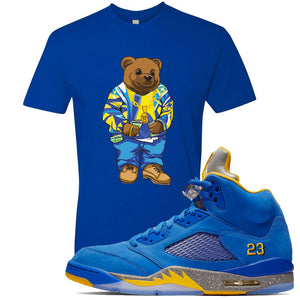 This blue t-shirt will match great with your Jordan 5 Alternate Laney JSP shoes