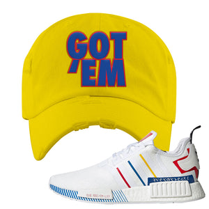 NMD R1 Olympic Pack Distressed Dad Hat | Yellow, Got Em