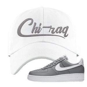 Air Force 1 Low Wolf Grey White Dad Hat | White, Chiraq