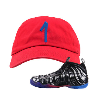 Air Foamposite One QS Gradient Soles Dad Hat | Penny One, Red
