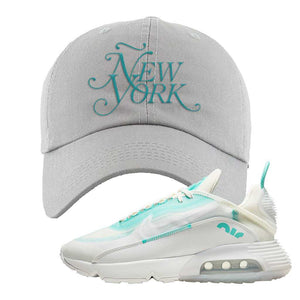 Air Max 2090 Pristine Green Dad Hat | Light Gray, New York