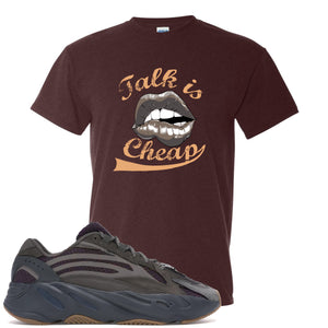 Yeezy Boost 700 Geode Sneaker Hook Up Talk Is Cheap Russet T-Shirt