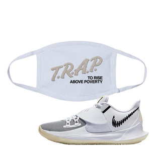 Kyrie Low 3 Face Mask | White, Trap To Rise Above Poverty