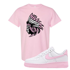 Air Force 1 Low White Pink Foam T Shirt | Light Pink, Indian Chief