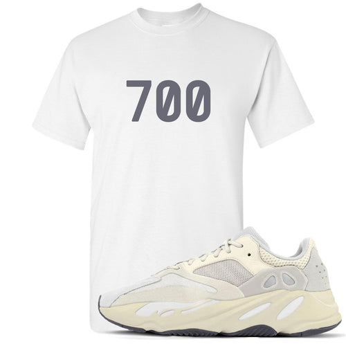 "Yeezy Boost 700 Analog Sneaker Match ""700"" White T-Shirt"