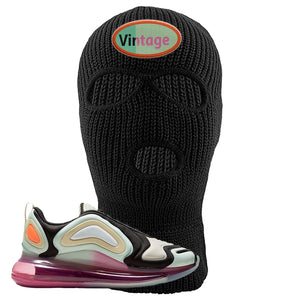 Air Max 720 WMNS Black Fossil Sneaker Black Ski Mask | Winter Mask to match Nike Air Max 720 WMNS Black Fossil Shoes | Vintage Oval