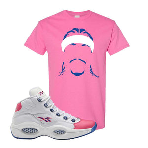 Question Mid Pink Toe T-Shirt | Headband Corn Rows, Azalea