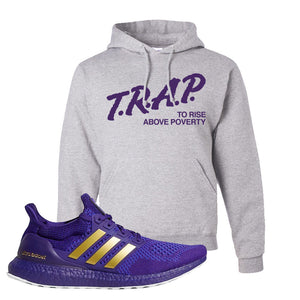 Ultra Boost 1.0 Washington Hoodie | Trap To Rise Above Poverty, Ash